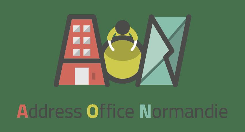 logo ADDRESS OFFICE NORMANDIE pasteur client i-media pour une communication digitale à rouen