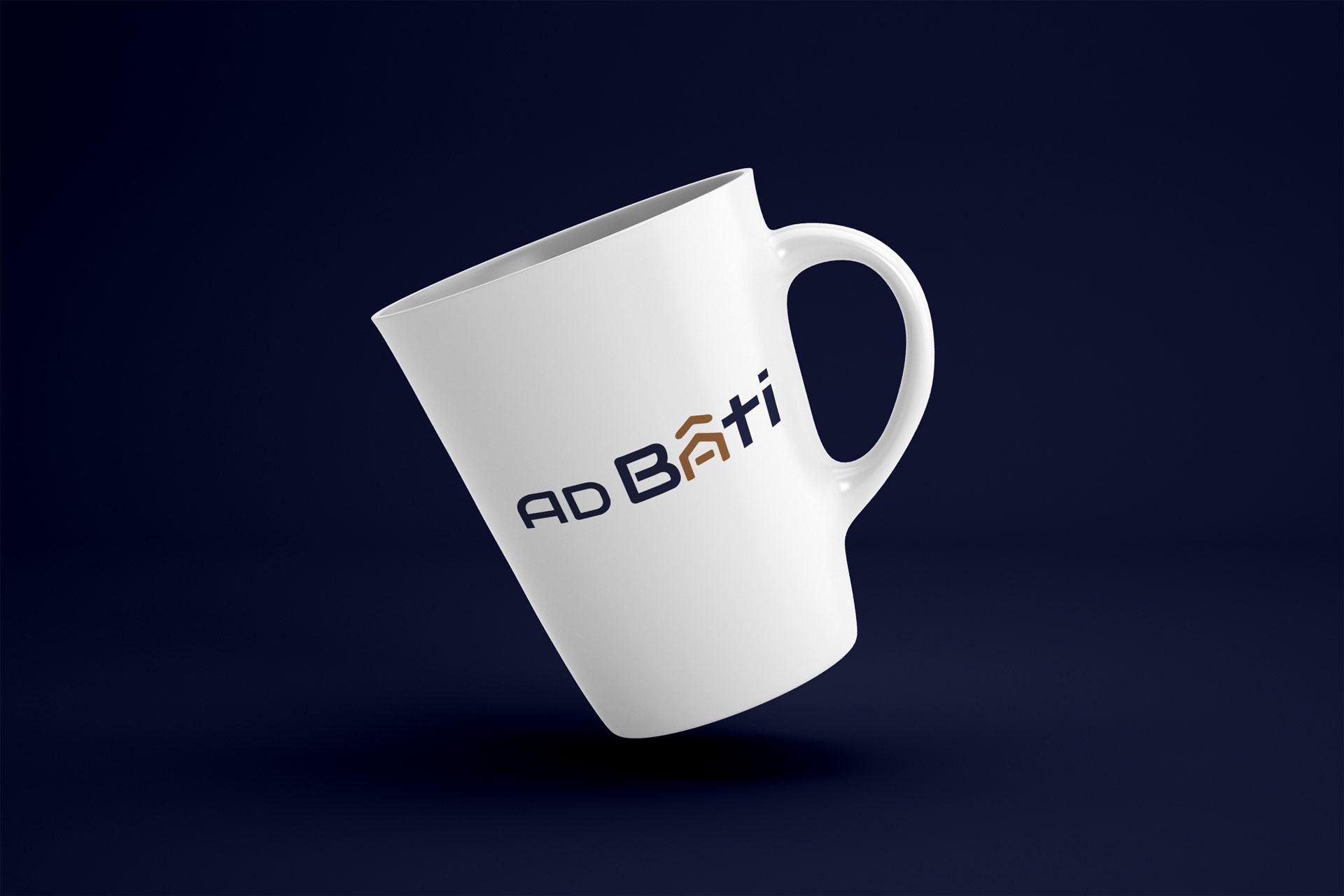 mockup logo ad bati rouen client i-media agence de communication digitale