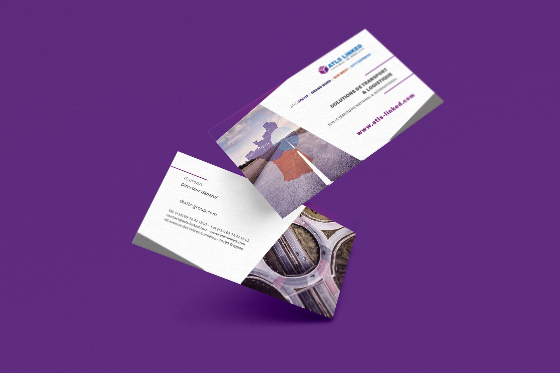 mockup carte de visite atls rouen client i-media agence de communication digitale