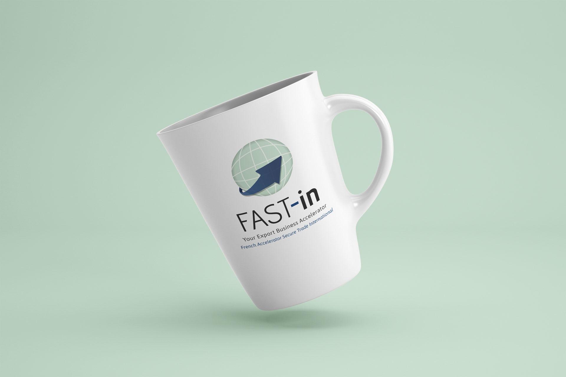 mockup logo fast-in rouen client i-media agence de communication digitale