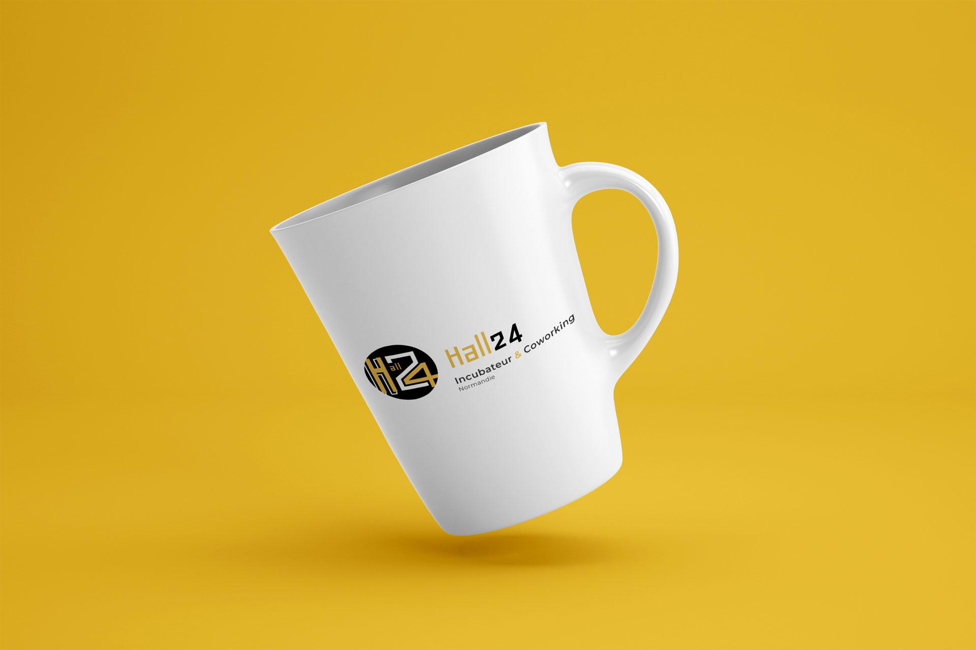 mockup logo hall 24rouen client i-media agence de communication digitale